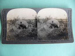 Photo WWI Coupole Allemande En Acier Pour Mitrailleuses Démolie Par Les Alliés Par Keystone View Compagny USA - 1914-18