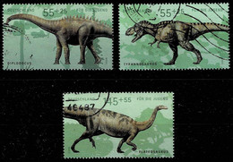 Bund 2008,Michel# 2688 - 2680 O  Jugend: Dinosaurier - Usados