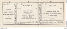 Billet De Diligence Transports Meyer Années 1870 Montlhery Linas Saint Michel Sur Orge TRES RARE - Unclassified