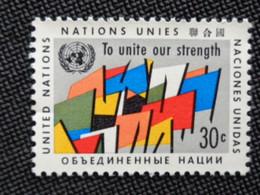 1961 NATIONS UNIES Y&T N° 88 ** - PAPIER AVEC FRAGMENTS - Neufs