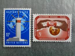 1967 NATIONS UNIES Y&T N° 159 & 160 ** - TYPE MODIFIE DE 1962 - Neufs