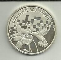 2000 Cruzeiros 1992 Brasil Proof Silver - Brazil
