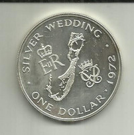 Dollar 1972 Bermudas Silver - Bermuda