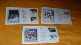LOT 3 ENVELOPPES FDC DE 2009../ CHAMPIONNATS DU MONDE FIS DE SKI ALPIN VAL D'ISERE 2009..CACHETS + TIMBRES - 2000-2009