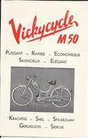 """Publicité Années """"1950"""" Vickycyvle M 50 Cyclomoteur, Vélomoteur - Advertising"""