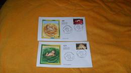 LOT 2 ENVELOPPES FDC DE 2005../ NAISSANCE..C'EST UN GARCON, UNE FILLE...CACHETS PARIS + TIMBRES - 2000-2009