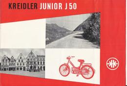 """Publicité Années """"1950"""" Kreidler J 50 Cyclomoteur, Vélomoteur, - Advertising"""