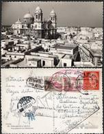 """España - Edi O TP 1153 + 1044(2) - Postal De Cádiz A Portugal Varias Marcas - En Los Sellos Marca Roja """"Hospital Do .."""" - 1951-60 Lettres"""