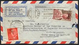 """España - Edi O 1153 + 1265 - Carta De """"San Fernando 6/4/60"""" A USA - 1951-60 Lettres"""