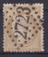 FRANCE - 59  15C BISTRE CERES VARIETE FILET VERTICAL DROIT COMPLETEMENT ABSENT CACHET GC 2723 SUPERBE - 1871-1875 Cérès