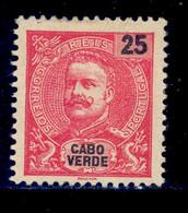 ! ! Cabo Verde - 1903 D. Carlos 25 R - Af. 78 - MH - Kapverdische Inseln