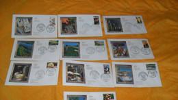 LOT 10 ENVELOPPES FDC DE 2006../ PORTRAITS DE REGIONS LA FRANCE A VIVRE...CACHETS + TIMBRES - 2000-2009