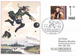 Freiherr Von Münchhausen, Individuelle Ausgabe Zum 300. Geburtstag, Der Baron Auf Der Kanonenkugel, Schriftsteller, - Writers