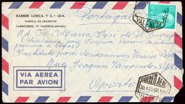 """España - Edi O 1155 - Carta """"Correo Aéreo 30/8/60 - Valencia"""" A Oporto - 1951-60 Lettres"""