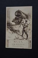 CARTOLINA MILITARE SERIE LA MILIZIA FERROVIARIA TRENO TIMBRO LIBRERIA CARTOLINE MILITARI - Patriottiche