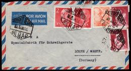 """España - Edi O 1157(2) + 1072(2) +928 - Carta """"Correo Aéreo 9/96/56 - Bilbao"""" A Alemania - 1951-60 Lettres"""
