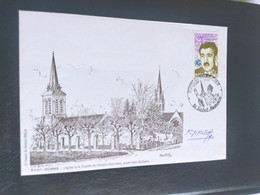 Enveloppe Saint-Memmie Dessin De  Roland Irolla Signé 1990 Timbre N° 2638 - 1990-1999