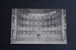 CARTOLINA POSTALE ITALIANA TEATRO PERSIANI RECANATI INTERNO VG 1908 - Teatro