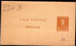 Argentina - Circa 1920 - Faja Postal - Bande Postale - General San Martin - 1 Ctv - A1RR2 - Briefe U. Dokumente