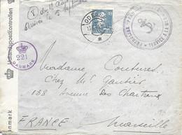 Pétrolier FRANCHE COMTE Marine Nationale - Réquisitionné En 1940 - Oblt. Odessa - Courrier Censuré 13-8-45 - Seepost