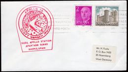 "España - Edi O 1158 - Marca ""Apollo 15 - NASA - Apollo Station - Apartado 50860 - Madrid"" Roja - 1951-60 Lettres"