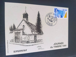 Carte Épernay Dessin De  Roland Irolla 1990 Timbre N° 2689 - 1990-1999
