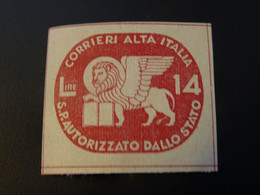 ITALIE  CORALIT 1945  Poste Privée Neuf** MNH - Servicio Privado Autorizado