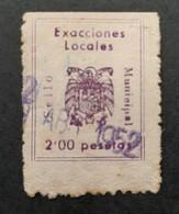 Espagne - Spain - Espana - Vignette 2 Ptas - Exacciones Locales - TB - Ohne Zuordnung
