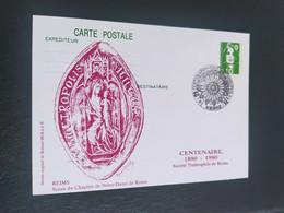 Carte Notre-Dame De Reims Dessin De  Roland Irolla 1990 Timbre N° 2627 - 1990-1999