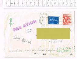 Par Avion Tel Aviv Israel  Dan Hotel - Storia Postale - Annulo A Targhetta - Briefe U. Dokumente