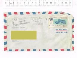 1966 - Cecoslovacchia - Ceskoslovensko - Air Mail Par Avion - Storia Postale - Annulo A Targhetta - Cartas