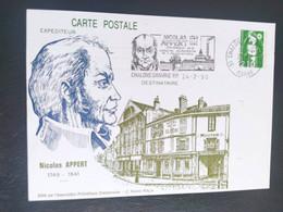 Carte Nicolas Appert à Châlons-sur-Marne Dessin De  Roland Irolla 1990 Timbre N° 2627 - 1990-1999