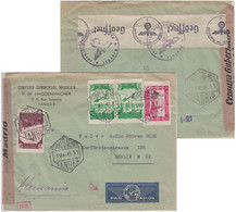 Span. Marokko/Tanger 1941 Luftpostbrief Tanger - Berlin Span.-dt. Doppelzensur - Morocco (1956-...)
