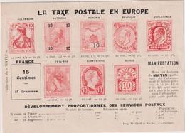 """CP-Pétition Sur Les Tarifs Postaux  En 1900-COLLECTION DU  """" MATIN """"RECTO-VERSO - Poste & Postini"""