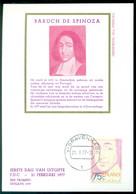 Nederland 21 Februari 1977 Maximumkaart 300e Sterfdag De Spinoza NVPH 1130 - Maximum Cards