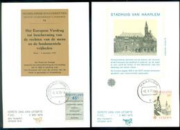 Nederland 2 Mei 1978 Maximumkaarten (2) Rechten Van De Mens, Europa NVPH 1157-1158 - Maximum Cards