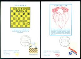 Nederland 1 Juni 1978 Maximumkaarten (2) IBM Schaaktoernooi, Korfbal NVPH 1159-1160 - Maximum Cards
