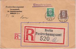 DR - 50+5 Pfg. Hindenburg Einschreibebrief N. USA Berlin-Postrechnungsamt 1930 - Cartas