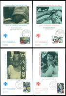 Nederland 13 November 1979 Maximumkaarten (4) Kinderzegels NVPH 1186-1189 - Maximum Cards