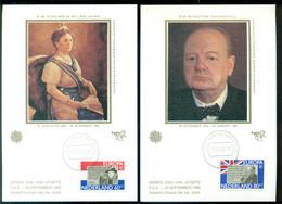 Nederland 23 September 1980 Maximumkaarten (2) Vooraanstaande Persoonlijkheden Europa CEPT NVPH 1207-1208 - Maximum Cards