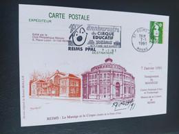 Carte Reims Signé Dessin De  Roland Irolla 1991 Timbre N° 2627 - 1990-1999