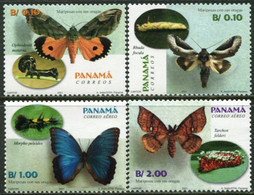 PANAMA 2001 Butterflies And Caterpillars Butterfly Insects Animals Fauna MNH - Vlinders