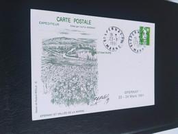 Carte Épernay Signé Dessin De  Roland Irolla 1991 Timbre N° 2627 - 1990-1999
