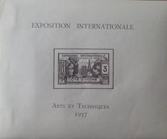 """R2452/223 - 1937 - EXPO INTERNATIONALE """" ARTS Et TECHNIQUES """" De PARIS  - COLONIES FR. - COTE D'IVOIRE - BLOC N°1 NEUF* - Neufs"""