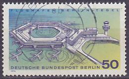 Timbre Oblitéré N° 441(Yvert) Allemagne 1974 - Aviation, Aéroport De Berlin-Tegel - Oblitérés