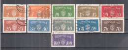 Norvège - Service - Yv.9/21 (sauf 10) - Type A - Obl/gest/used - Officials