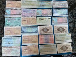 Blocco Di 47 Mini Assegni Misti Circolati - Kilowaar - Bankbiljetten