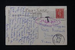 FRANCE - Taxes De La Poste Restante De Dinard Sur Carte Postale Du Royaume Uni En 1952 - L 90450 - Lettres Taxées