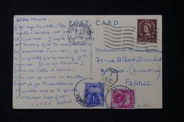 FRANCE - Taxes De Gonesse Sur Carte Postale Du Royaume Uni En 1956 - L 90451 - Lettres Taxées