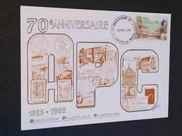 Carte Châlons-sur-Marne Dessin De  Roland Irolla 1995 Timbre N° 2955 - 1990-1999